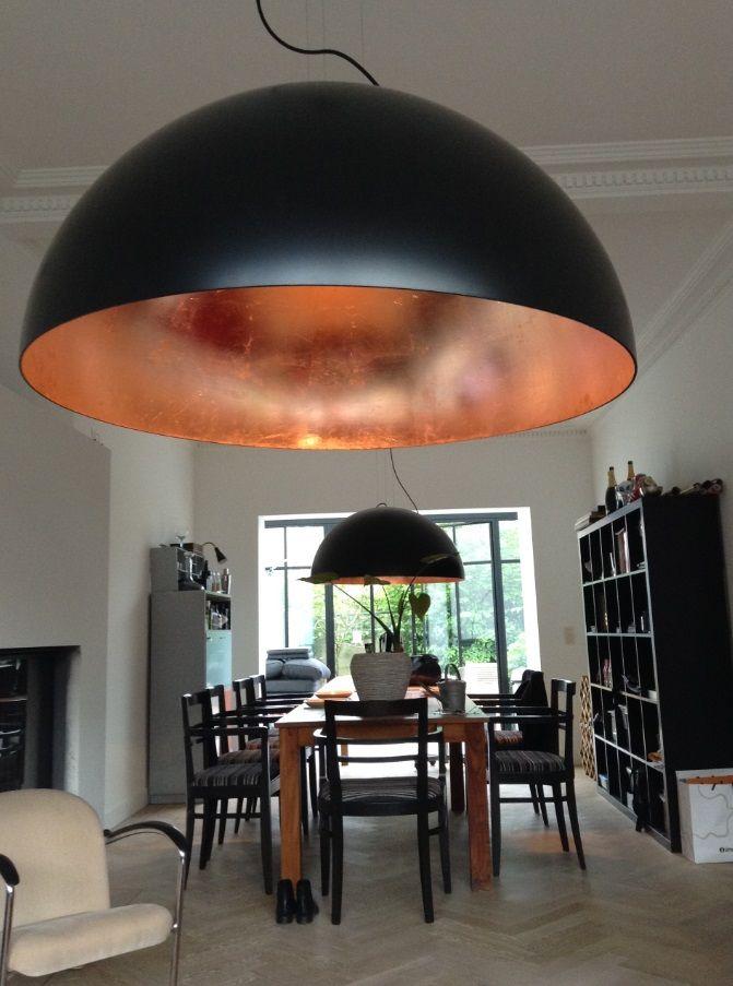Koepellamp Zwart Bladkoper 3 Woonkamerverlichting Verlichting Woning Verlichting