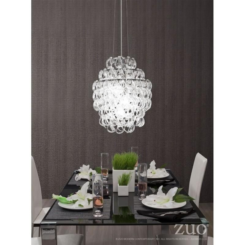 Zuo Modern 50030 Cascade Ceiling Lamp Ceiling Lamp Glass Chandelier Ceiling Pendant