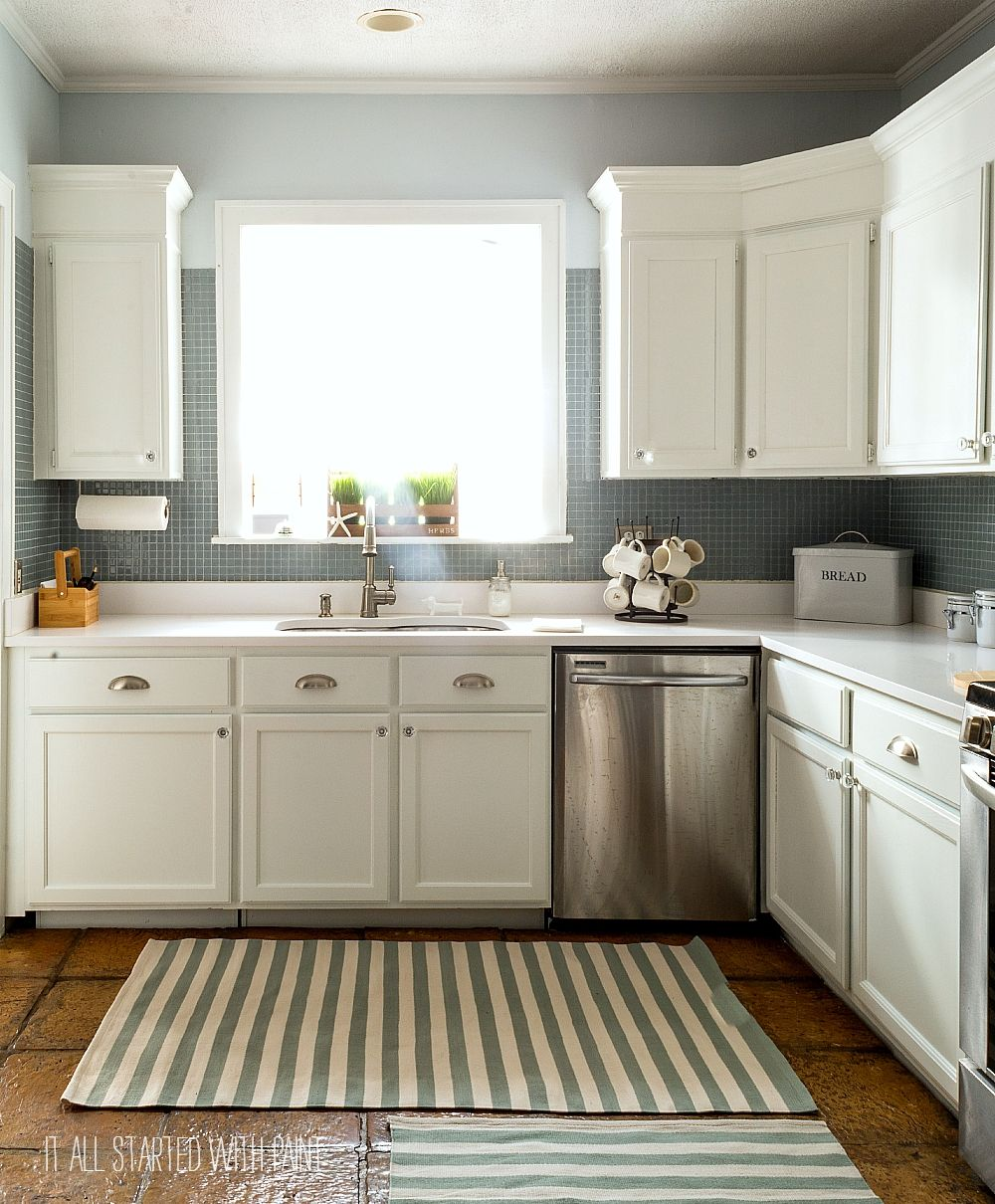 How to paint builder grade kitchen