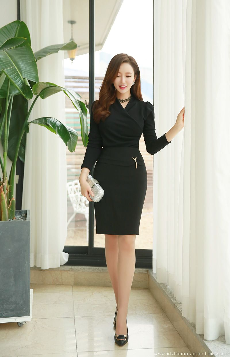 Purchase > black tight skirt korean fashion, Up to 20 OFF