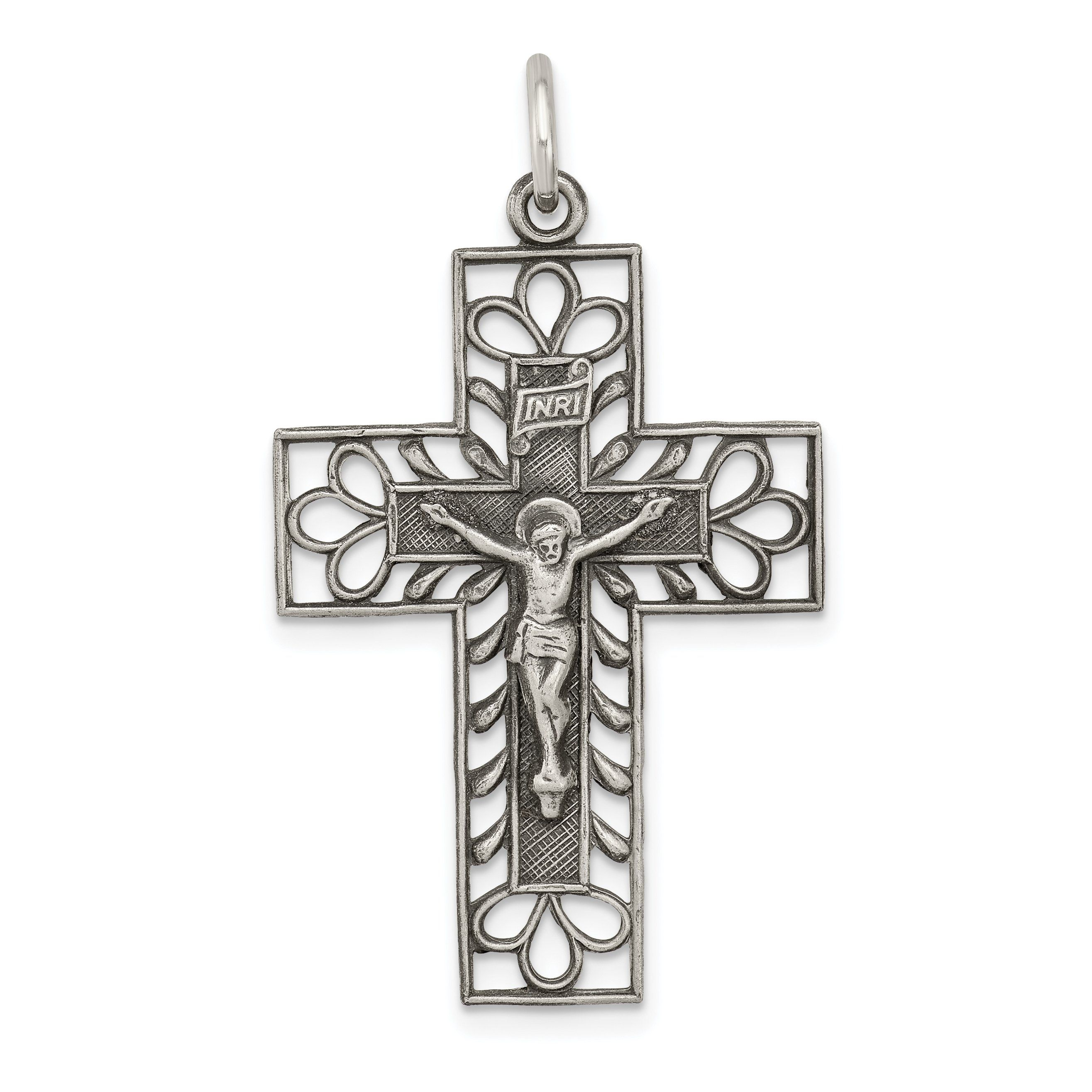 Best Quality Free Gift Box Sterling Silver Inri Cross Pendant