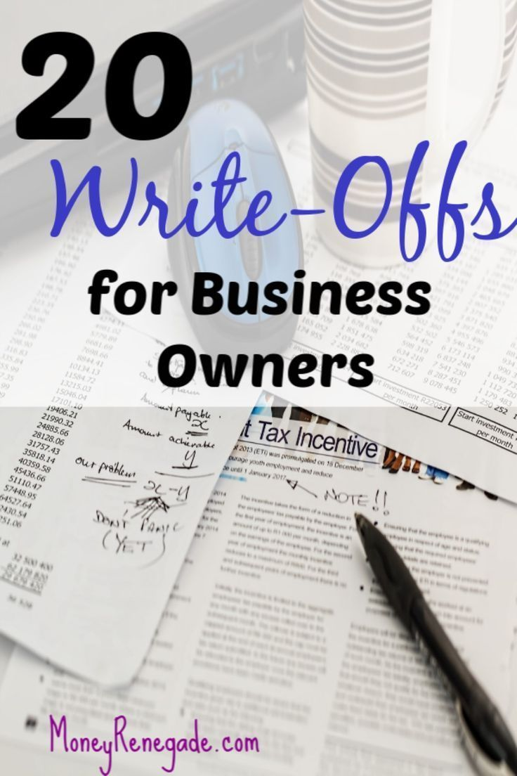 20 WriteOffs for Business Owners Business writing