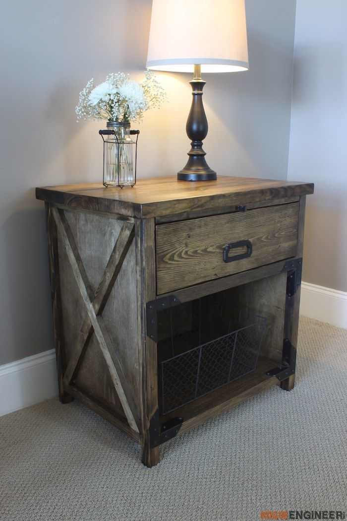 Simpson Diy Nightstand Plans Rogue Engineer Diy Nightstand Woodworking Furniture Plans Nightstand Plans