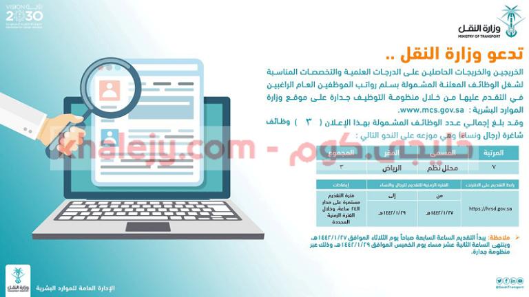 رابط جدارة Jadara3 للتقديم علي وظائف وزارة النقل 1442 1 Electronic Products Electronics Computer