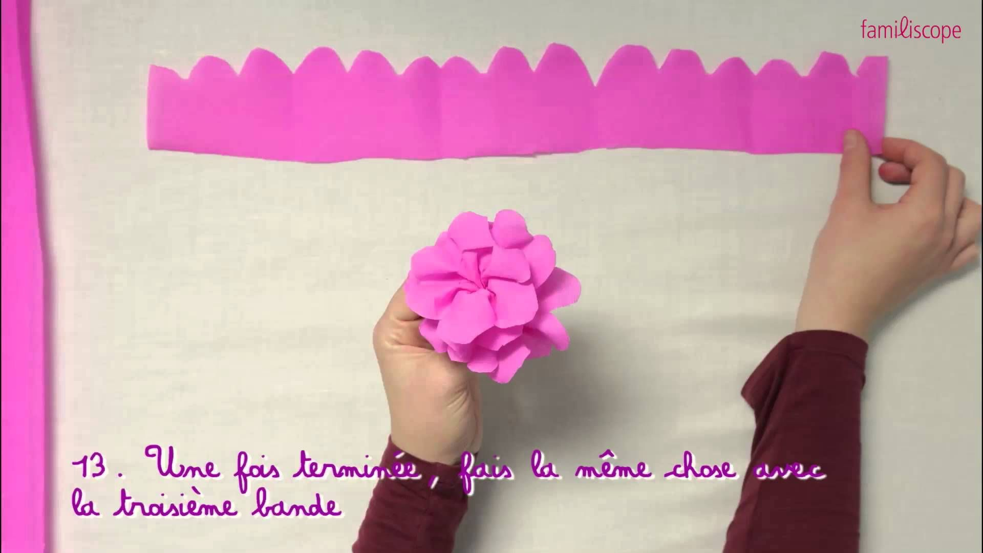video pour les enfants pour apprendre fabriquer une fleur en papier cr pon jardin. Black Bedroom Furniture Sets. Home Design Ideas