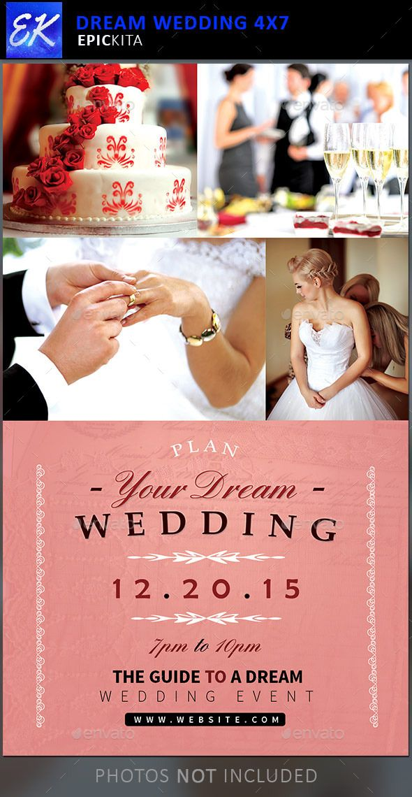 The Dream Wedding Event Flyer Template Is Great For Any Wedding