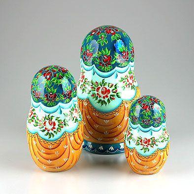 egg nesting olls | Nesting Doll Russian Troika 10 Pcs. | Traditional babushkas | The ...