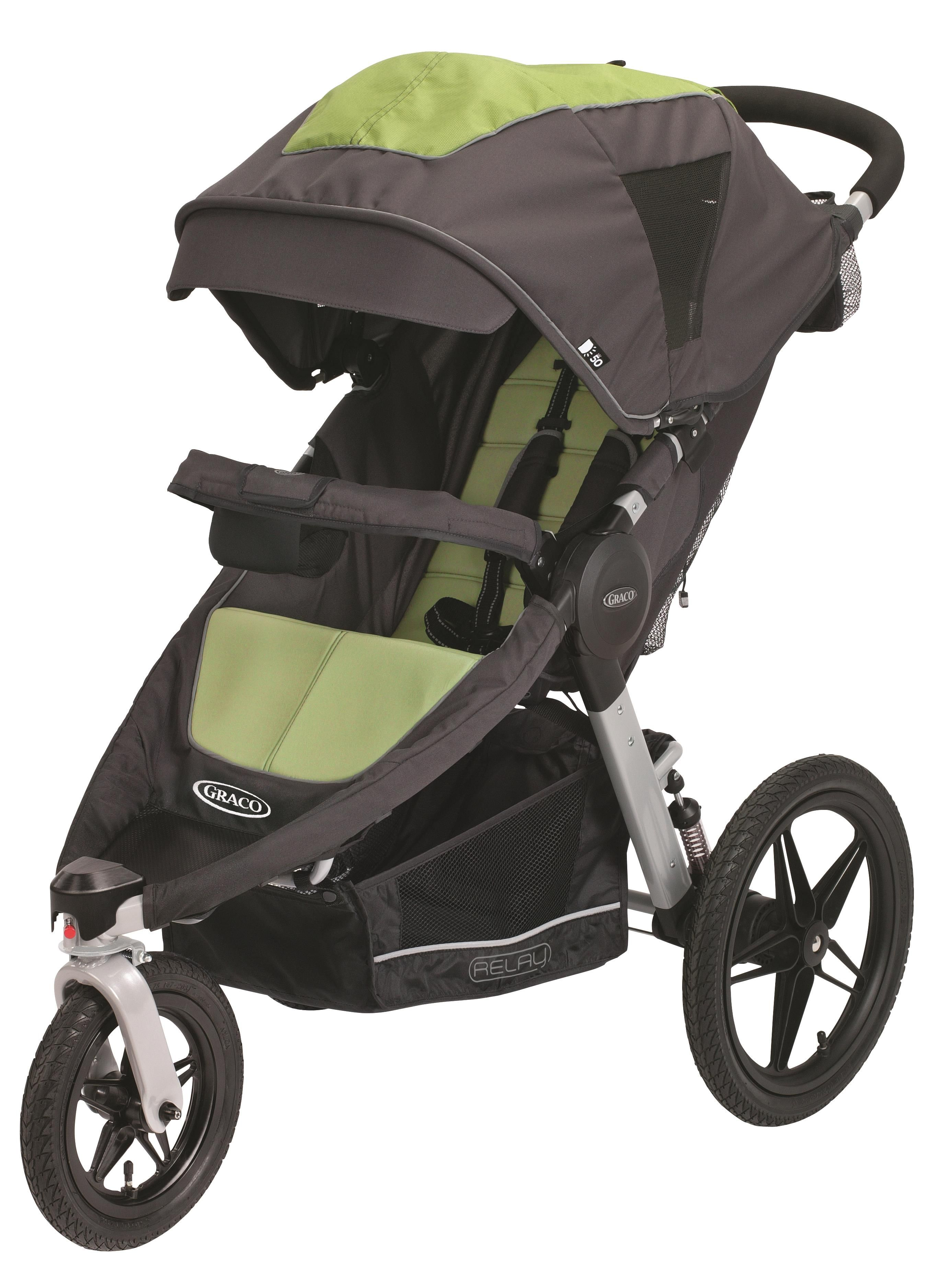 Graco Relay stroller in Lynx, with all accessories