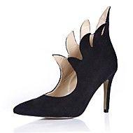 Pumpar / Heels ( Svart ) - till KVINNOR Stiletto klack - Klackar/Spetsig tå - i Imitationsmocka