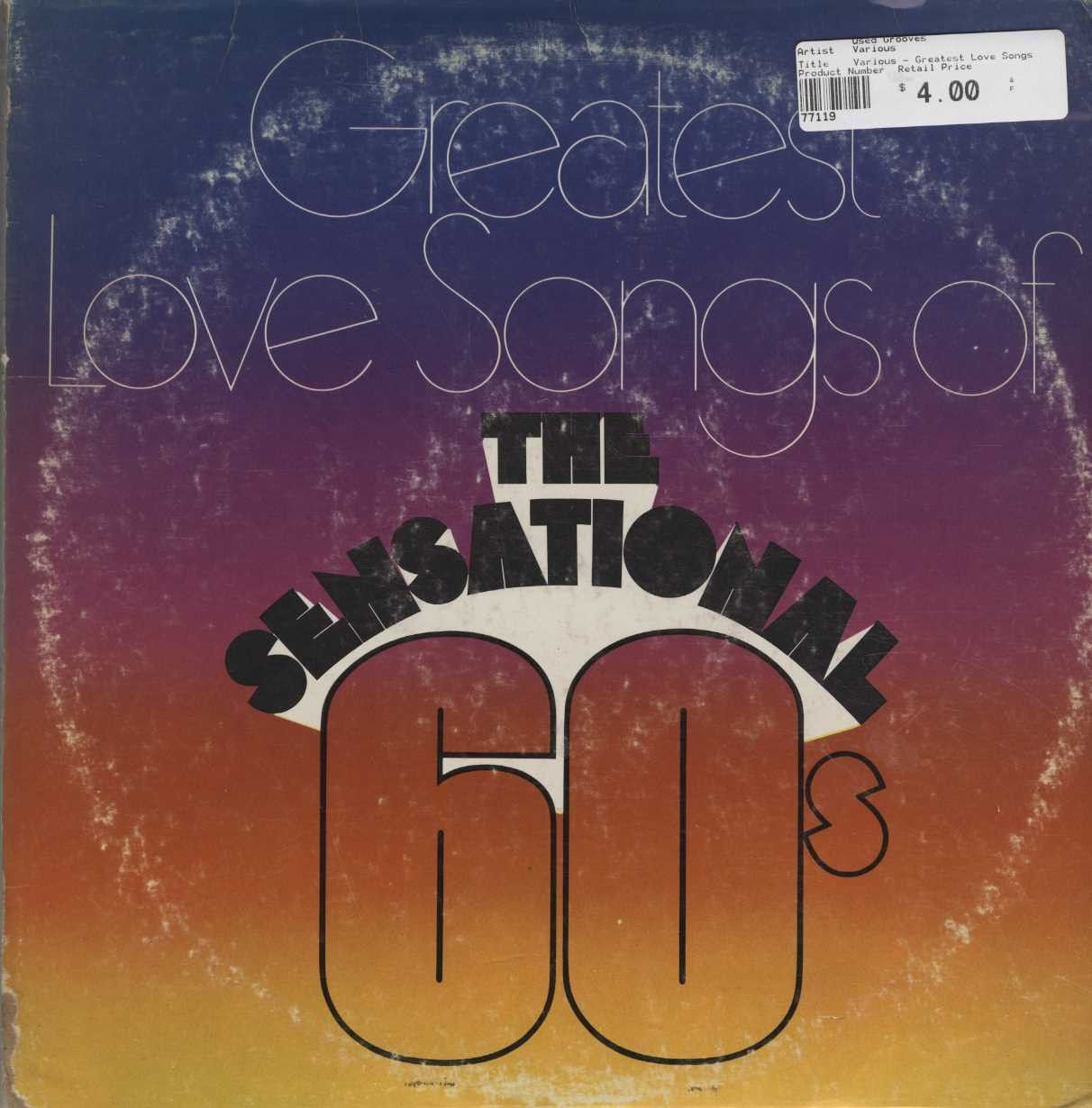 Various - Greatest Love Songs of The Sensational 60's
