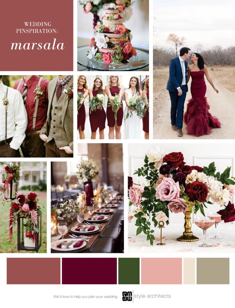 Wedding Pinspiration Marsala In 2019 Wedding Flower