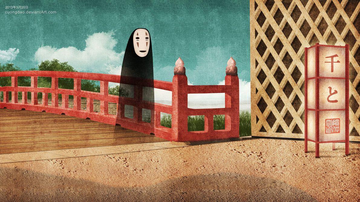 No-face likes Chihiro by ~cuongdao on deviantART