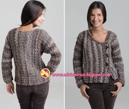 Resultado de imagem para casaco feminino trico multicolorido