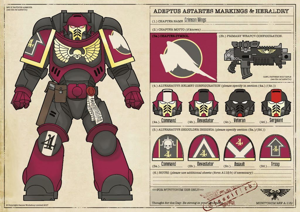 Related Image 50k Crimson Wings Pinterest Space Marine