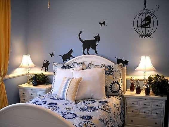 Pareti della camera da letto colorate | mobili | Pinterest | Cat
