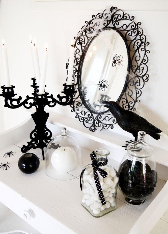 Black And White Halloween Decorating Ideas Elegant Halloween