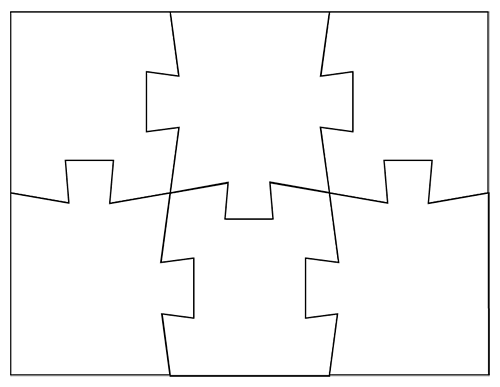 Jigsaw Puzzle Template-02: Use these to make Latin Vocab puzzles ...