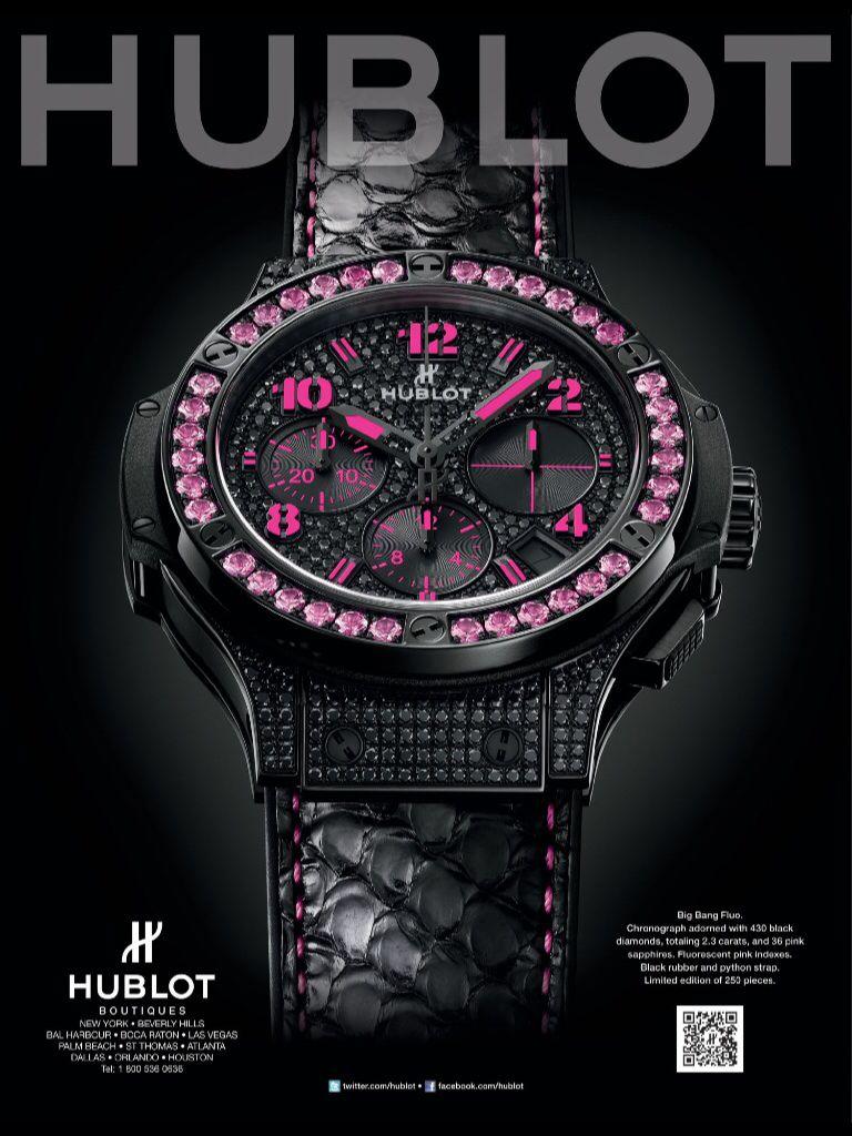 Hublot Watch Advertising