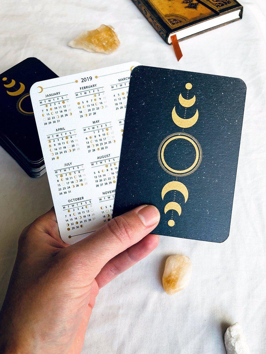 2020 Moon Lunar Calendar Moon Phases Mini Calendar Pocket