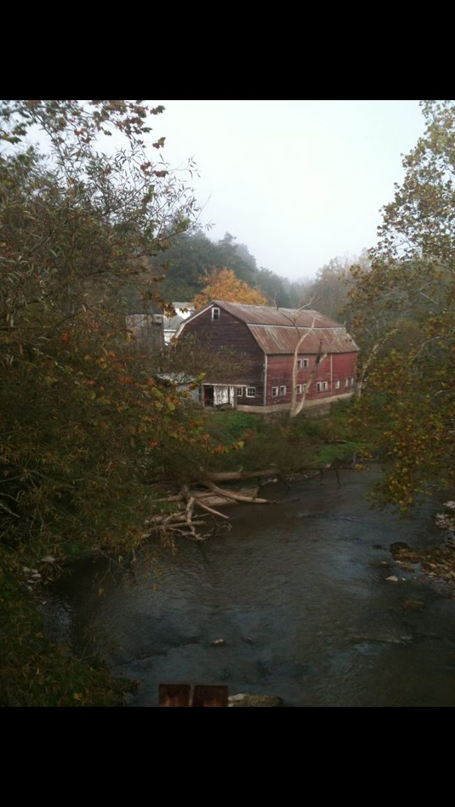 Old barn by the river