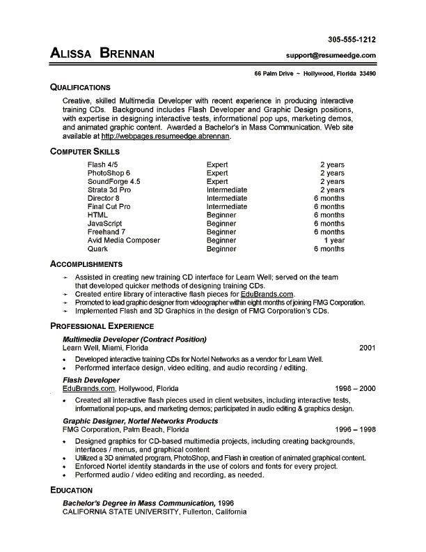 7 Resume Basic Computer Skills Examples Sample Resumes Sample Resumes Proposal Tulisan Tulisan Proposal Surat