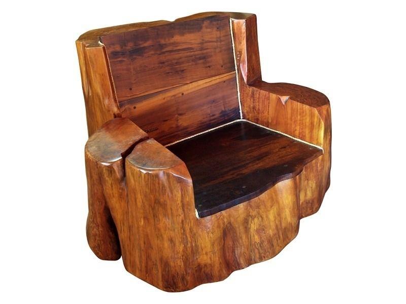 Poltrona Banco Cadeira Rustica De Tora Em Madeira Macica R