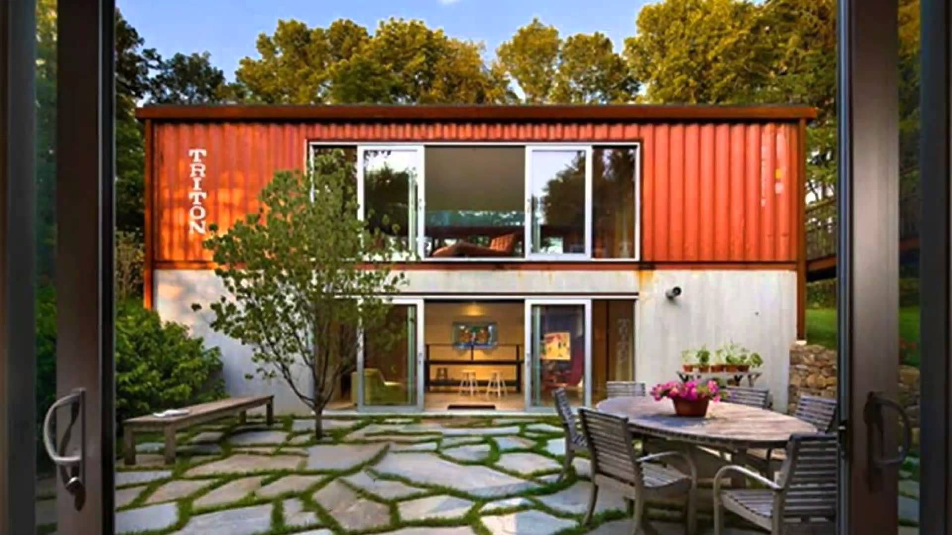 Small Shipping Container Homes shipping container house plans with courtyard inside container