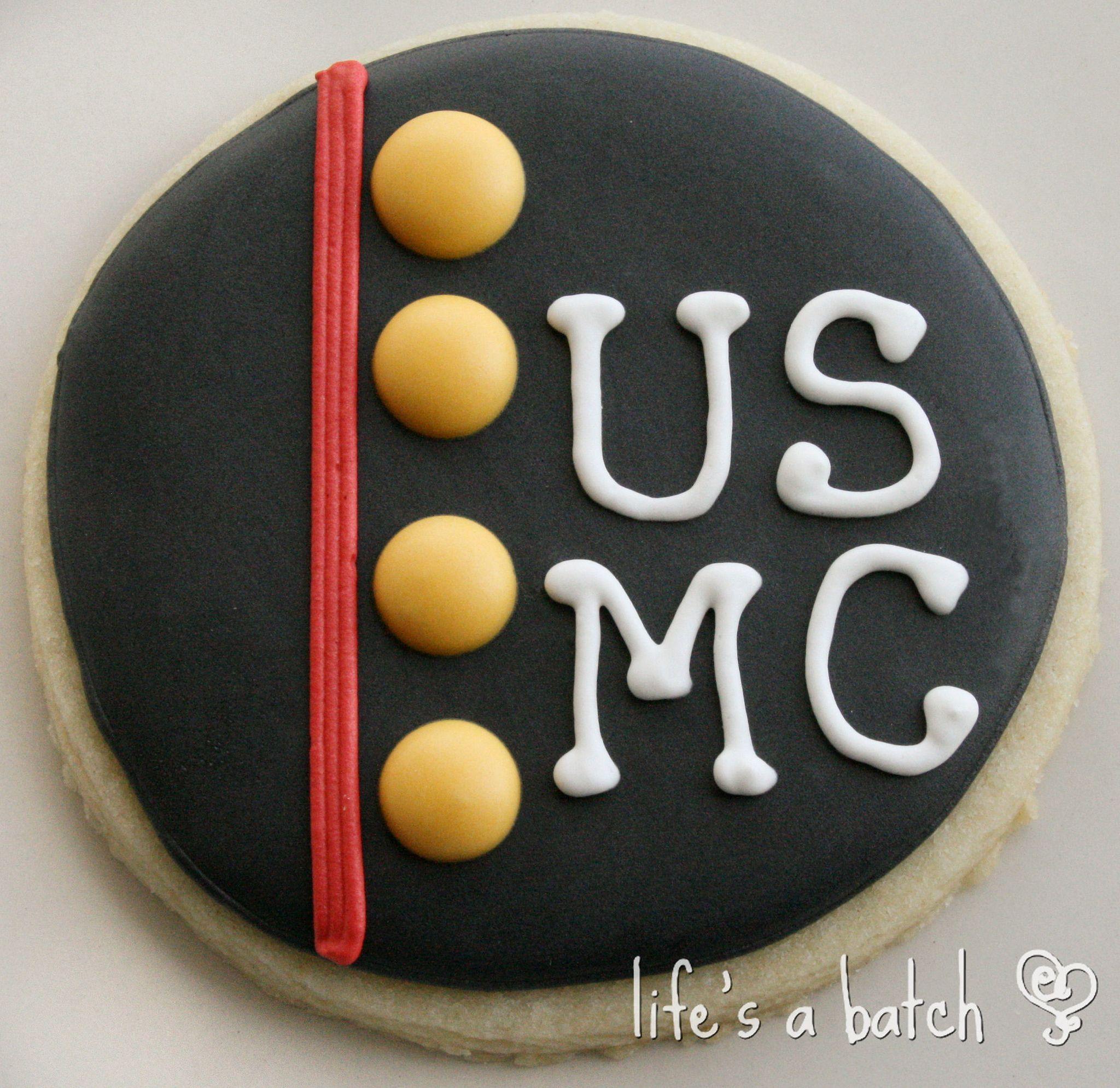 USMC cookie. in 2020 Marine cake, Cookie decorating