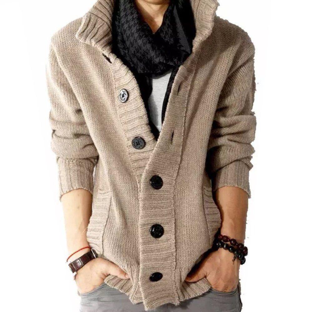 Men's Designer Casual Fashion Sweater (Slim Fit) Medium Beige ...