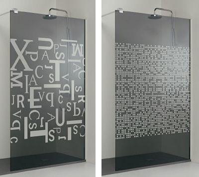 Impresi n digital sobre vidrio en mamparas de ducha - Papel adhesivo para cristales ...