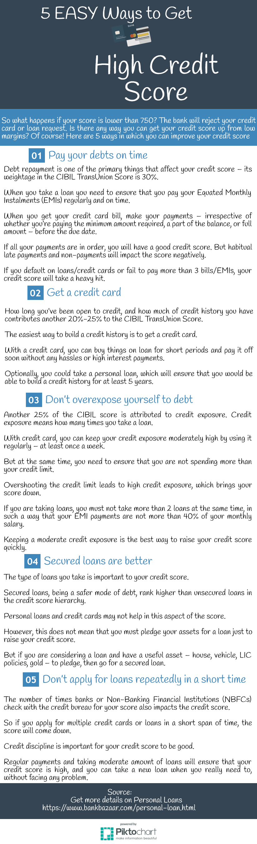 5 Easy Ways To Get High Credit Score Credit Score Financial News Financial Information
