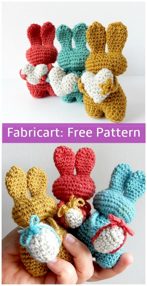Crochet Valentine Heart Bunny Toy Free Pattern | Pinterest ...