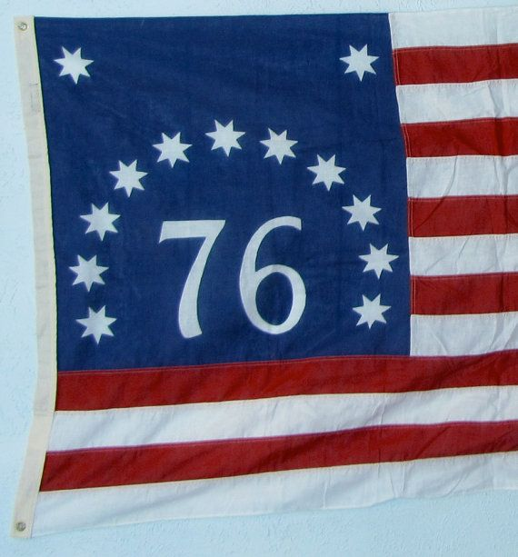 Vintage Industrial American Flag Spirit Of 76 Bunting Stars Stripes 1976 On Etsy 85 00 American Flag Vintage Industrial Flag