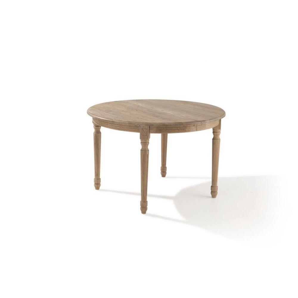Table Ronde Extensible Suzie Chêne Clair: Table Ronde Extensible Bois Chêne Clair 120-200 MEDICIS