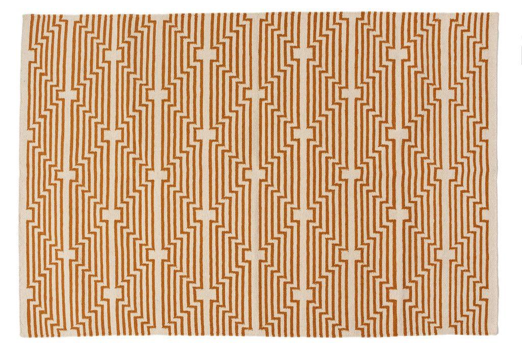 Optik Flat-Weave Rug, Caramel | AELFIE