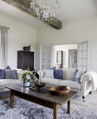Country French Meets Minimalist Farm House Living Room Living
