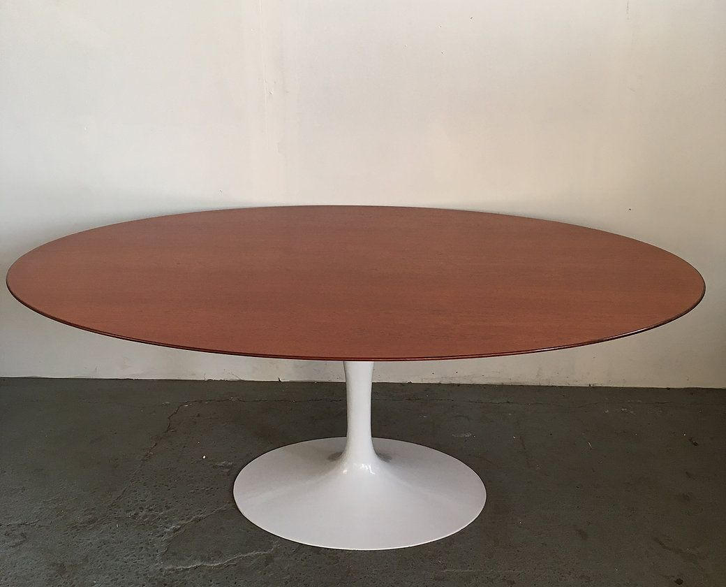 1960s Knoll Tulip Base Teak Top Dining Table Trystcraft Dining