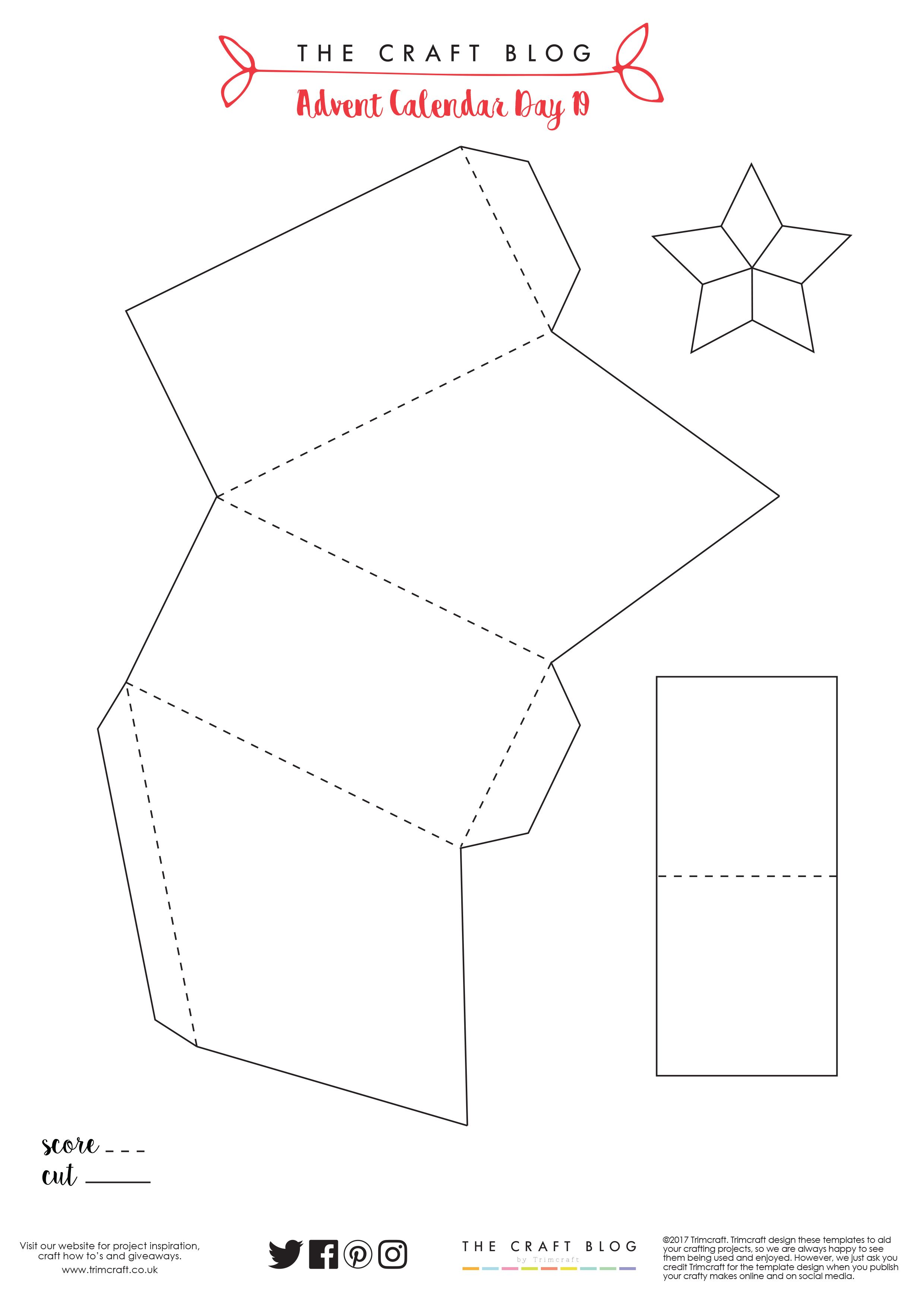 Advent Calendar Day 19 5 Point Star Party Cracker Tutorial With Free Template Party Crackers Christmas Crackers Craft Label