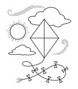 Kites Coloring Sheets