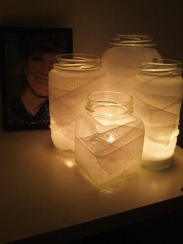 Halloween Mason Jar Candles Arts to Crafts Do it yourself
