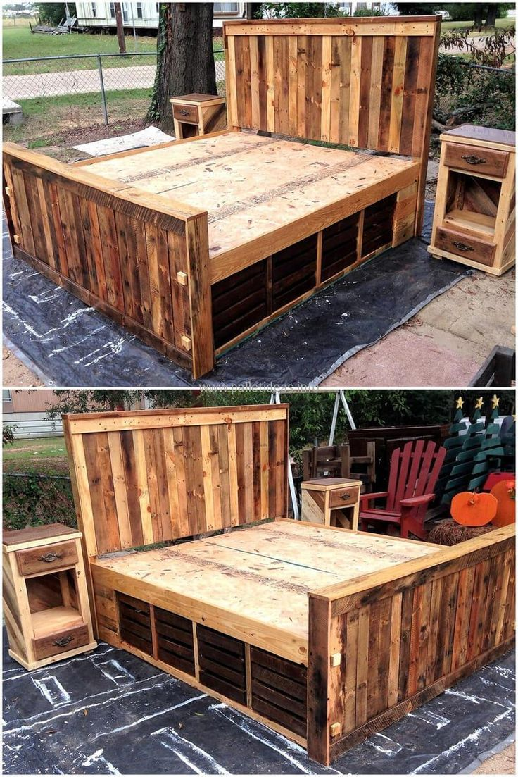 Wood pallet bed gives your place a