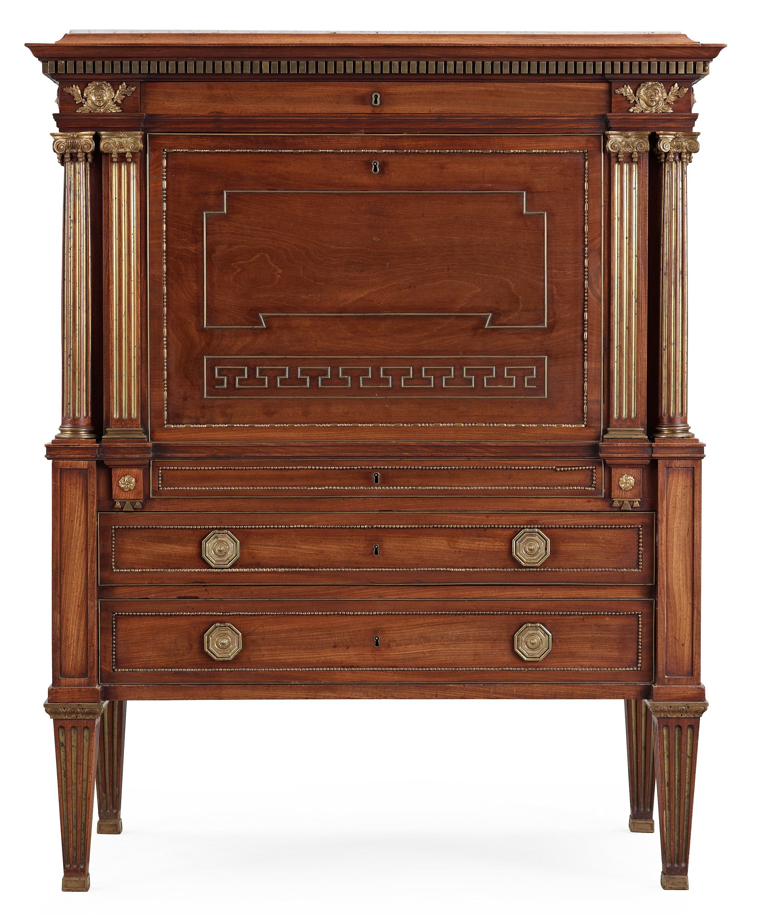 ** A late Gustavian masterpiece writing cabinet by J. F. Wejssenburg, Stockholm, 1795.