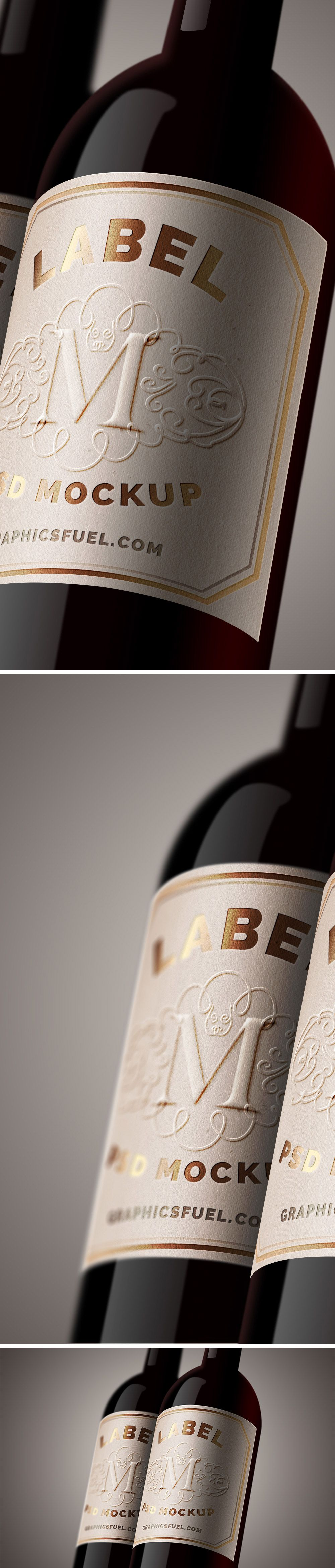 Today, Weu0027re Delighted To Introduce To You Free Wine Bottle Label PSD  Mockup Which Allows You To Present Your Wine Bottle Label In An Authentic  And ...  Free Wine Label Template