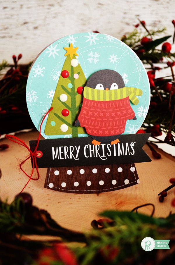 create your own snowglobe card set by wendysue featuring the holly jolly collection