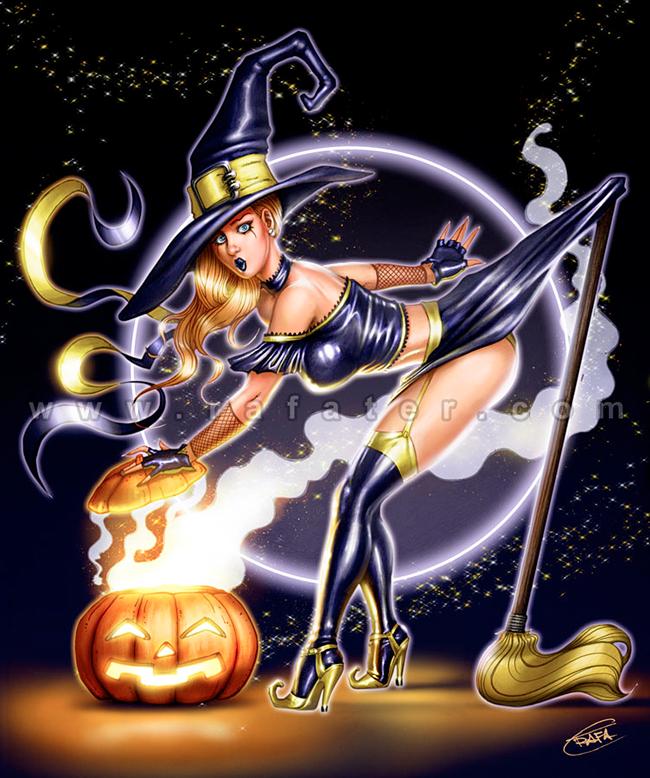 Sexy witch by vezoniaartz on deviantart