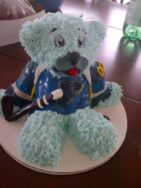 Stupendous St Louis Blues Cake Louie Cake St Louis Blues Blue Personalised Birthday Cards Arneslily Jamesorg