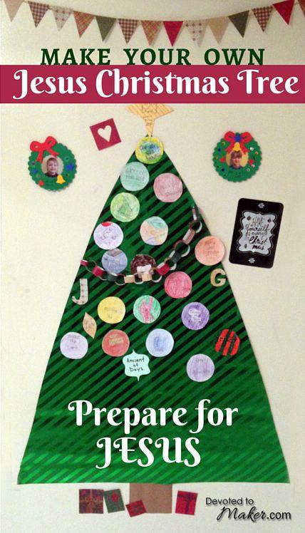 Jesus And Christmas Trees Part - 40: DIY Jesus Christmas Tree With Names Of Jesus Ornaments