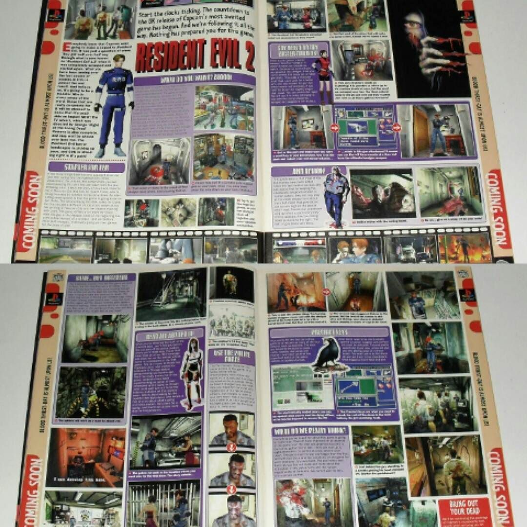 Shared by retrogamegeeks #retrogaming #microhobbit (o) http://ift.tt/1p1YrlG EVIL 2: Inside C&VG issue 196 a four page preview of Resident Evil 2 takes the spotlight. At the time it was the most anticipated videogame for the Playstation and pre launch hype was huge. This preview added even more excitement to the situation and was a great read. #residentevil #capcom #retrogames  #retro #retrogamegeeks #rgg #magazines #magazine #games #gaming #gamers #videogames #gamestagram #horror #zombies