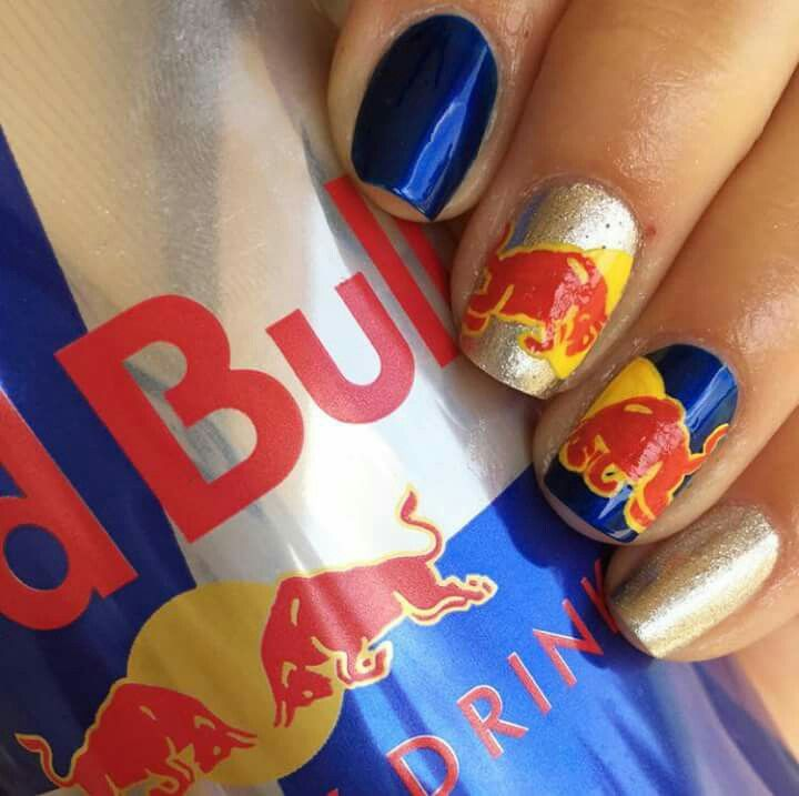 Red bull nail art by timberlin zink super badass visit her etsy red bull nail art by timberlin zink super badass visit her etsy shop here prinsesfo Choice Image