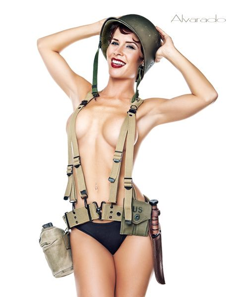 Think, Nude army pin up